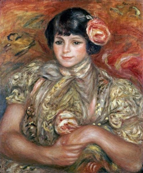 Pierre Auguste Renoir - Girl With A Rose