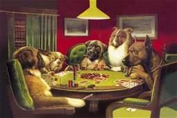 C.m. Coolidge - Poker Dogs: A Bold Bluff, 1903
