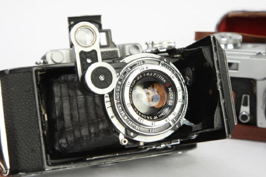 (3) RUSSIAN / SOVIET 35MM CAMERAS KIEV & ARIES - 8