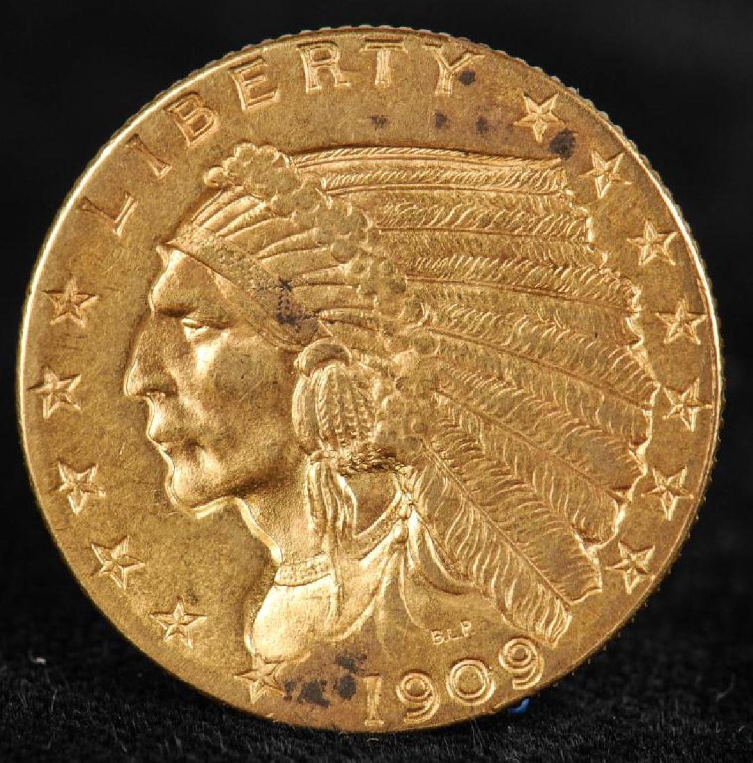 $2.50 INDIAN HEAD GOLD PIECE 1909