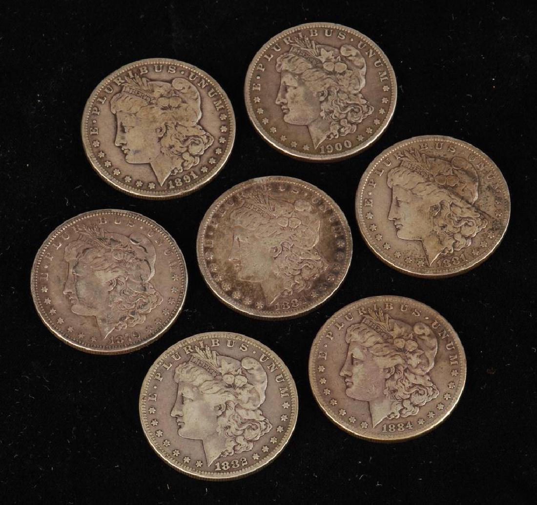 (7) MORGAN SILVER DOLLARS 1879-1900