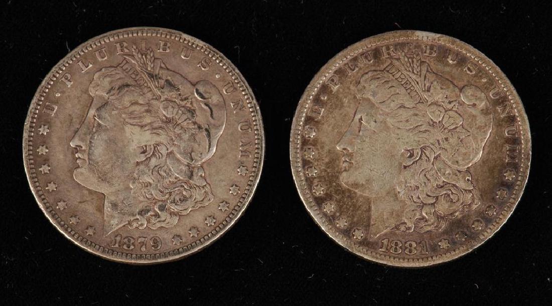 (7) MORGAN SILVER DOLLARS 1879-1900 - 6