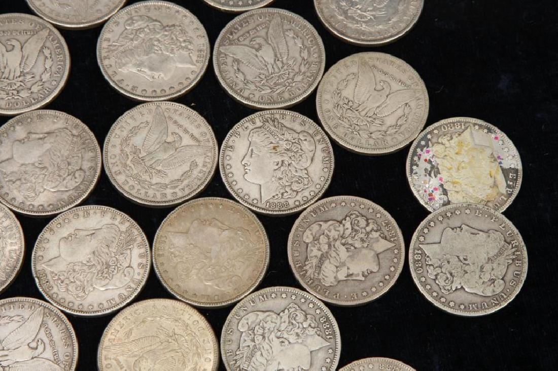 (42) MORGAN DOLLARS FOR THE 1880'S - 2