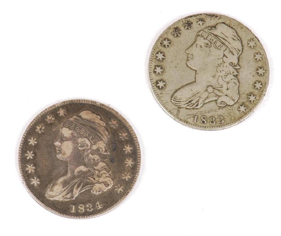 (74) MORGAN, (7) PEACE DOLLARS, (2) BUST & CAP - 6