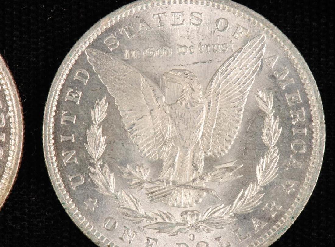 (2) MORGAN SILVER DOLLARS 1883-O and 1885-O - 3