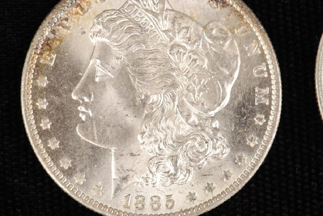 (2) MORGAN SILVER DOLLARS 1883-O and 1885-O - 4