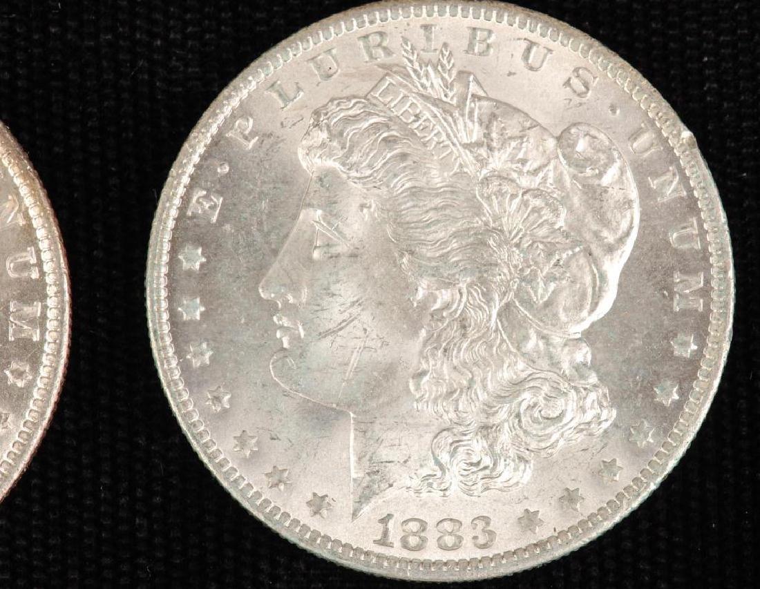 (2) MORGAN SILVER DOLLARS 1883-O and 1885-O - 5