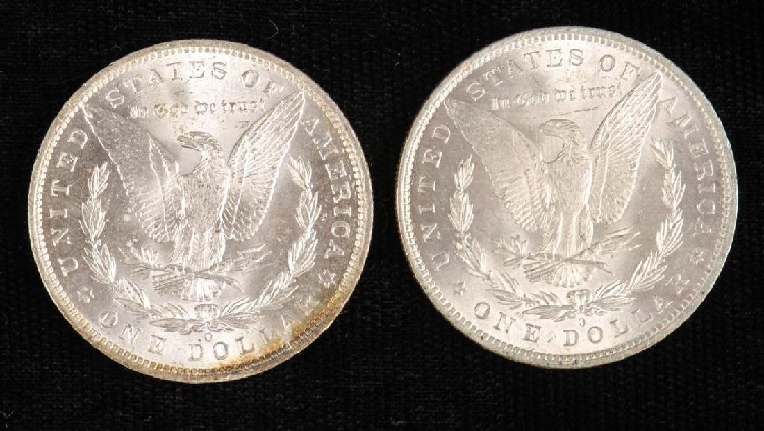 (2) MORGAN SILVER DOLLARS 1883-O and 1885-O - 6