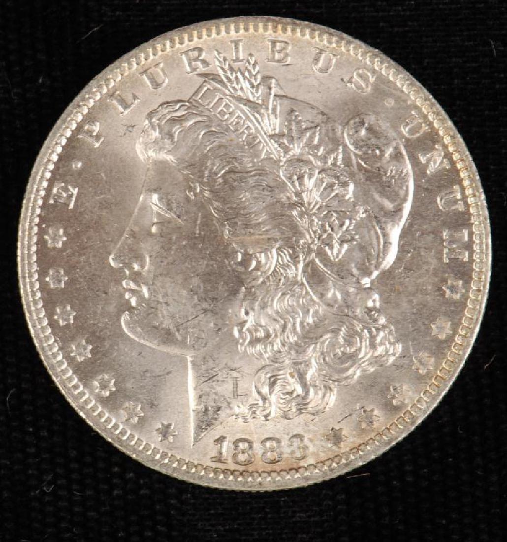 (3) MORGAN SILVER DOLLARS 1883-O and 1886 - 2