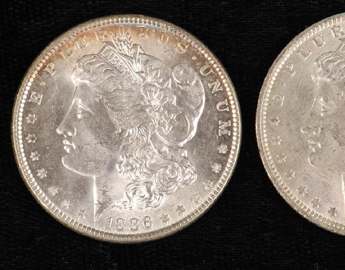 (3) MORGAN SILVER DOLLARS 1883-O and 1886 - 4