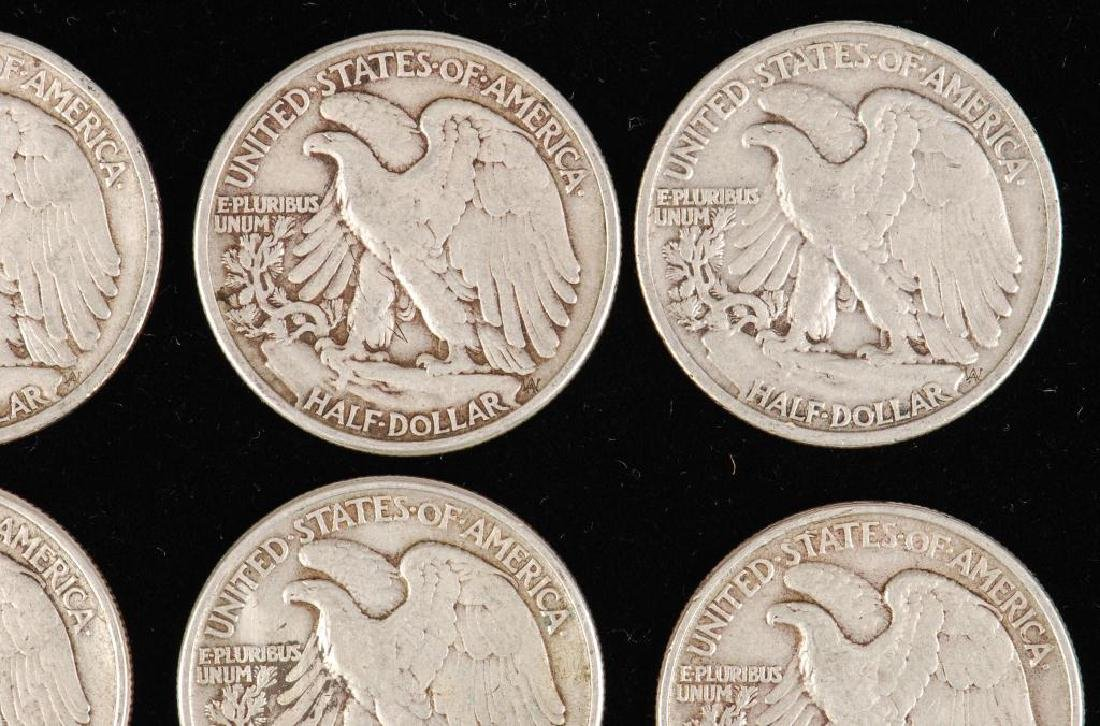 (12) WALKING LIBERTY HALF DOLLARS 1930's-1940's - 10