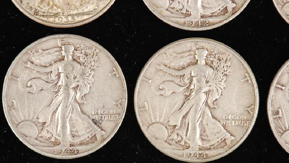 (12) WALKING LIBERTY HALF DOLLARS 1930's-1940's - 3