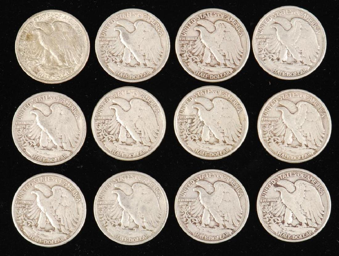 (12) WALKING LIBERTY HALF DOLLARS 1930's-1940's - 5