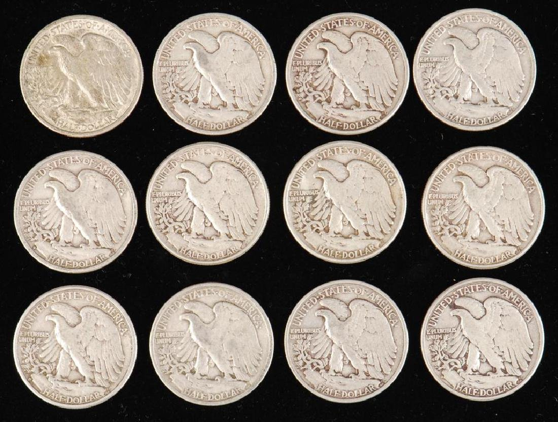(12) WALKING LIBERTY HALF DOLLARS 1930's-1940's - 7