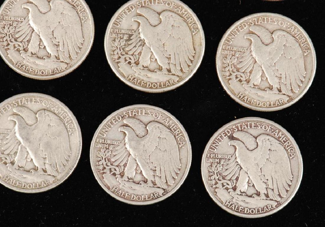 (12) WALKING LIBERTY HALF DOLLARS 1930's-1940's - 9