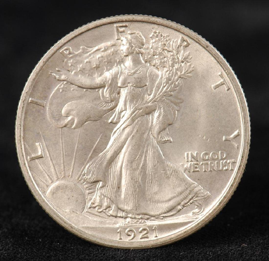 RARE WALKING LIBERTY HALF DOLLAR 1921-D