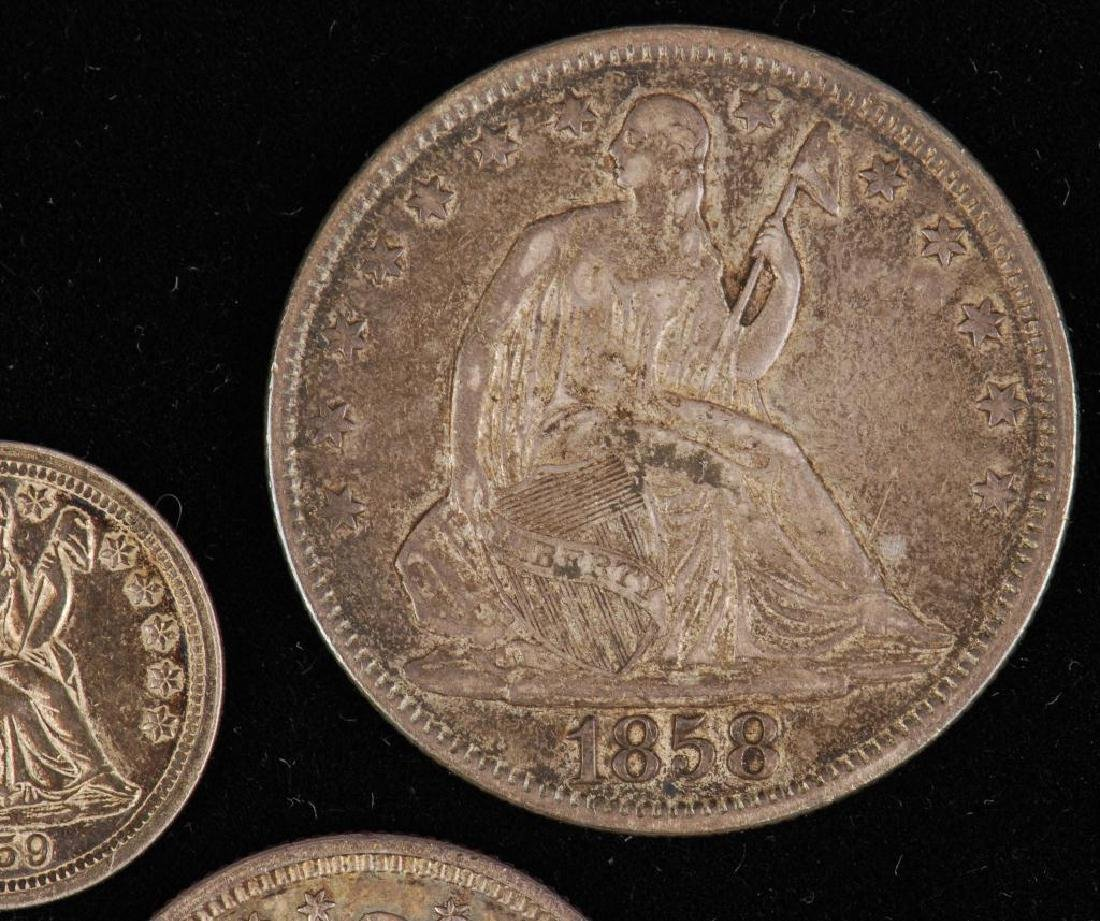 SEATED LIBERTY DIME, QUARTER AND HALF - 5