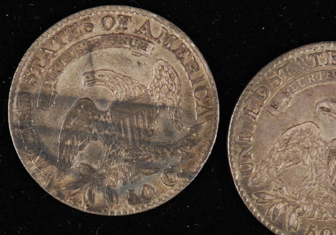 (3) CAPPED BUST SILVER HALF DOLLAR 1809,1823,1827 - 3