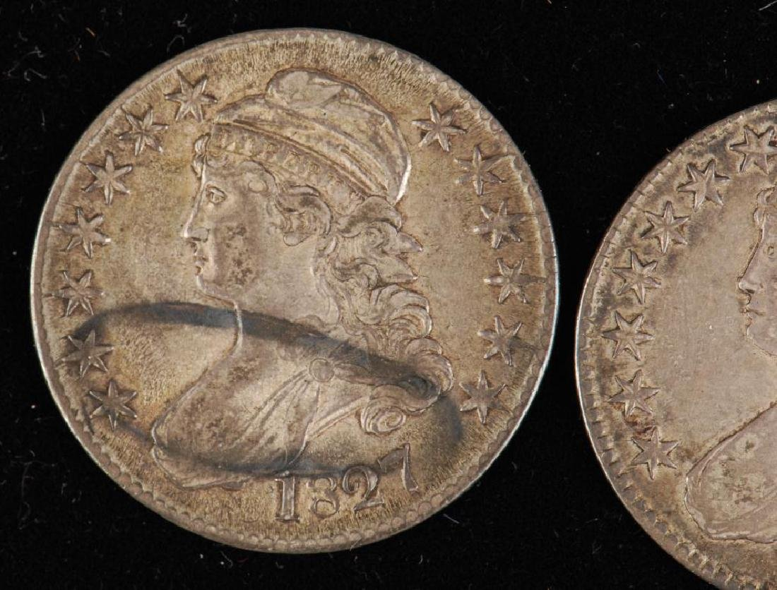 (3) CAPPED BUST SILVER HALF DOLLAR 1809,1823,1827 - 5