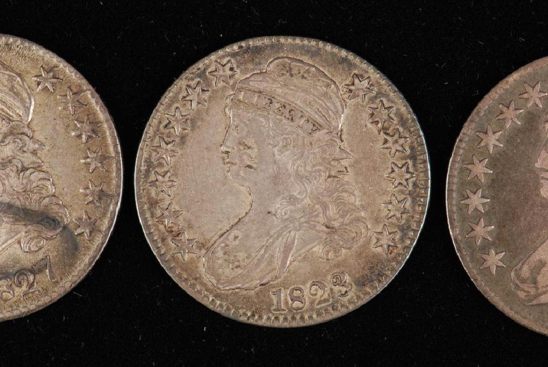 (3) CAPPED BUST SILVER HALF DOLLAR 1809,1823,1827 - 6