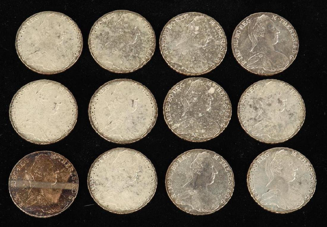 (12) REPRODUCTION MARIA THERESA THALLER 1780 COINS