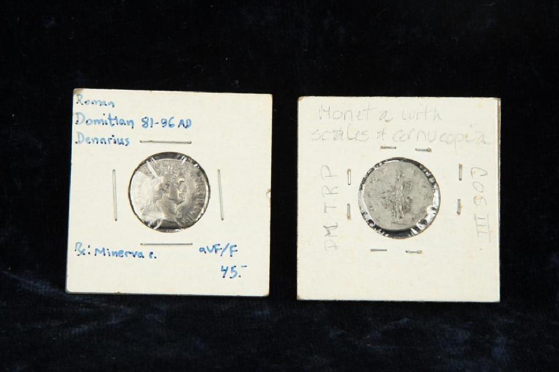 (2) ANCIENT ROMAN COINS