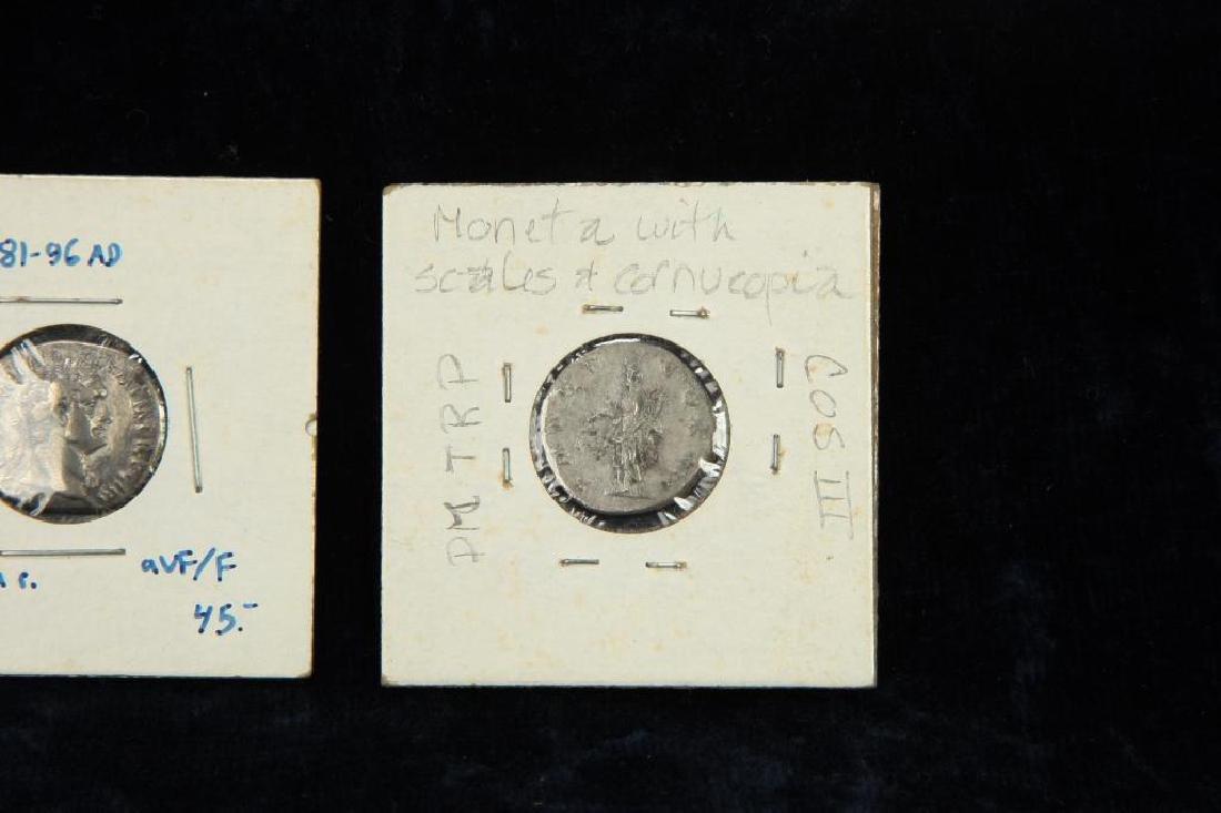 (2) ANCIENT ROMAN COINS - 4