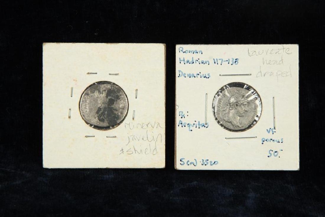 (2) ANCIENT ROMAN COINS - 6