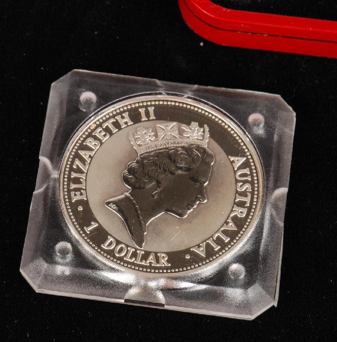 (4) TITANANIUM 5 POUND COINS (1) SILVER DOLLAR ETC - 2