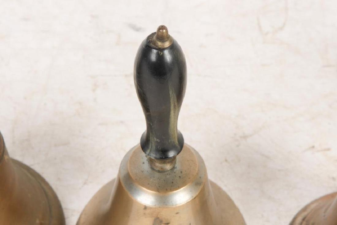 (8) ANTIQUE GRADUATING BRASS HAND BELLS - 7