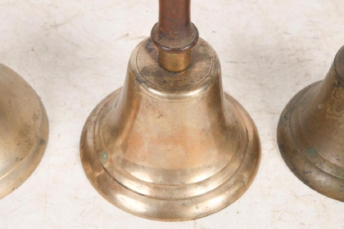 (8) ANTIQUE GRADUATING BRASS HAND BELLS - 8