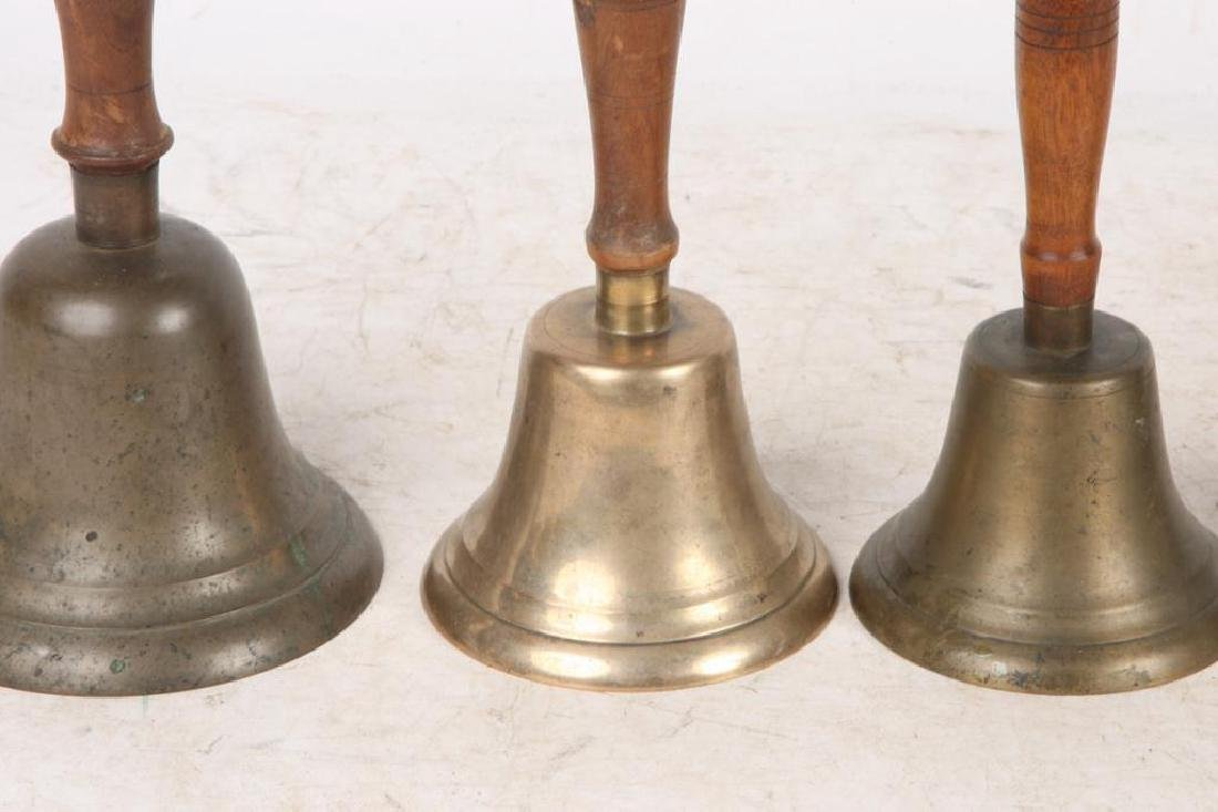 (7) ANTIQUE GRADUATING BRASS HAND BELLS - 5