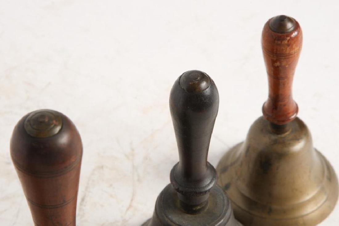 (8) ANTIQUE GRADUATING BRASS HAND BELLS - 10