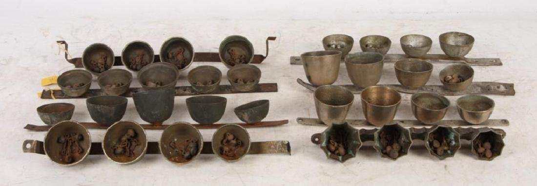 (8) ANTIQUE SHAFT / POLE / ICE CREAM BELLS - 4