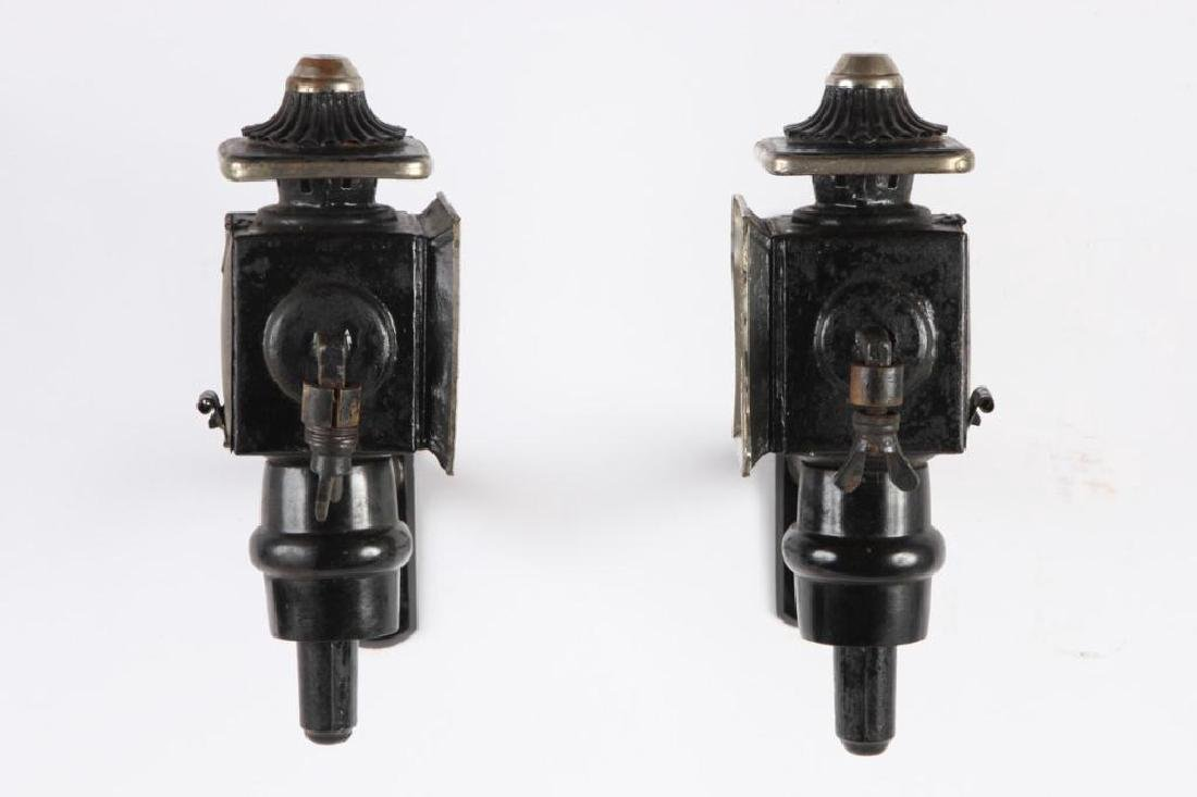 PAIR OF PONY CARRIAGE LAMPS - 4
