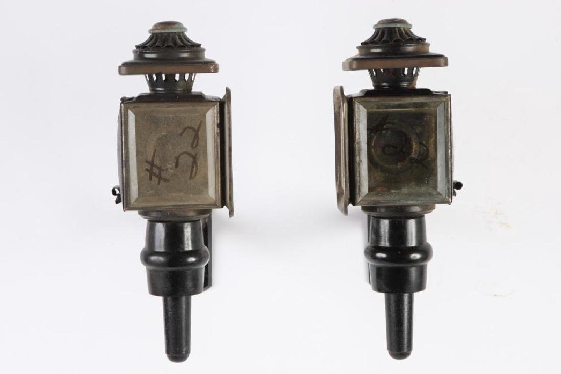 LARGE PONY SIZE CARRIAGE LAMPS POSSIBLY COWLES