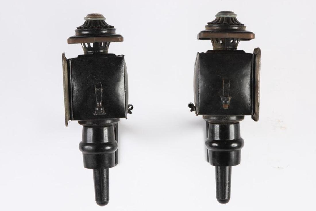 LARGE PONY SIZE CARRIAGE LAMPS POSSIBLY COWLES - 2