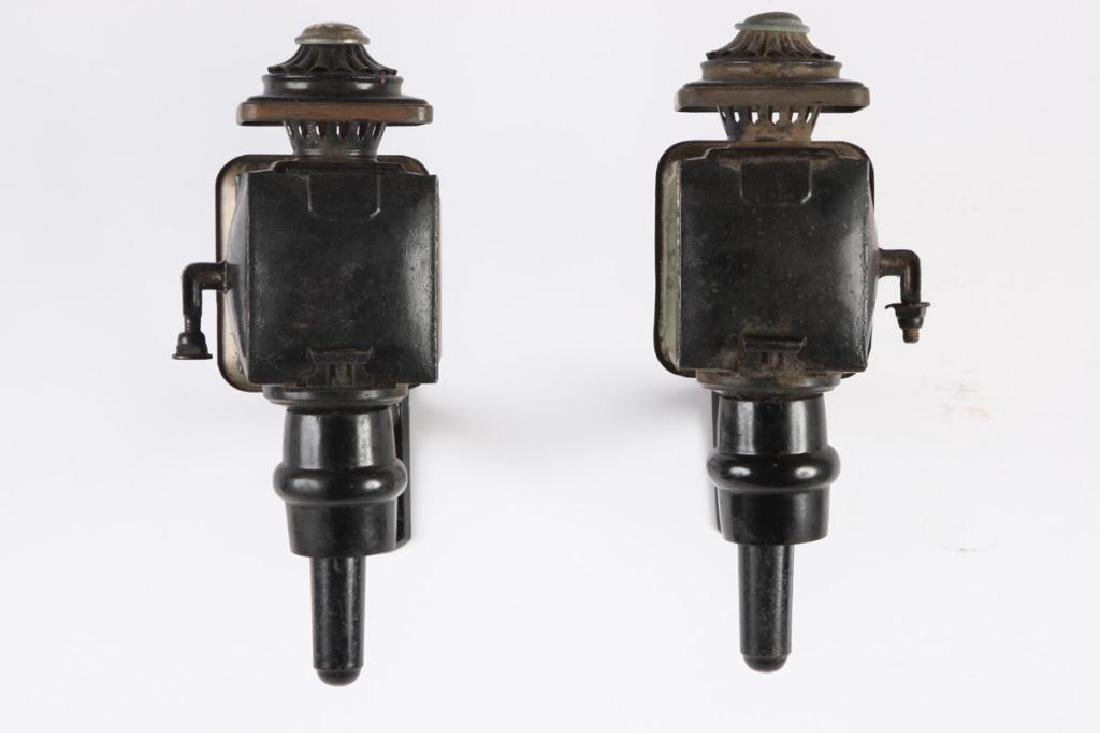 LARGE PONY SIZE CARRIAGE LAMPS POSSIBLY COWLES - 3