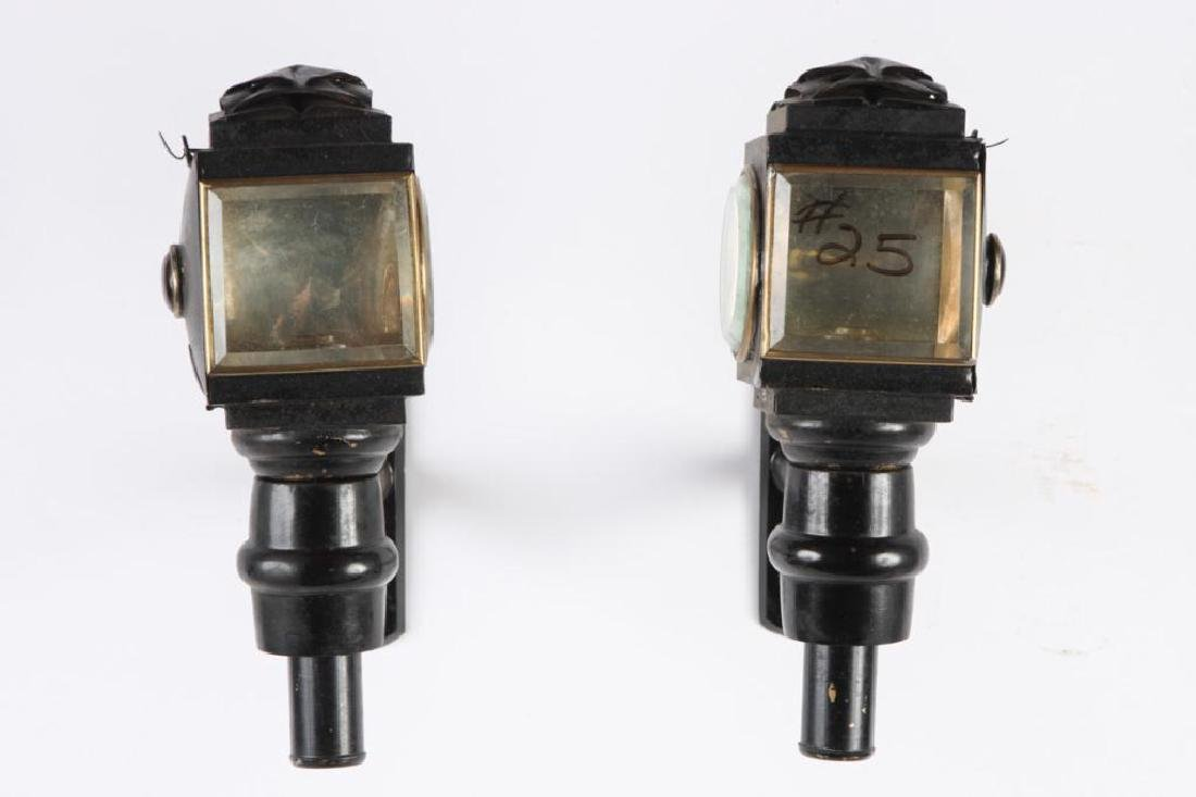 PAIR OF PONY GIG LAMPS