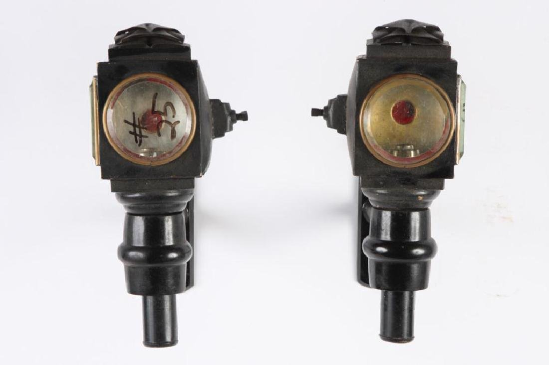 PAIR OF PONY GIG LAMPS - 4