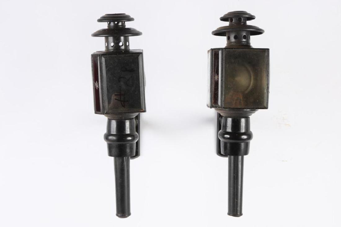 PAIR OF BASIC CARRIAGE LAMPS
