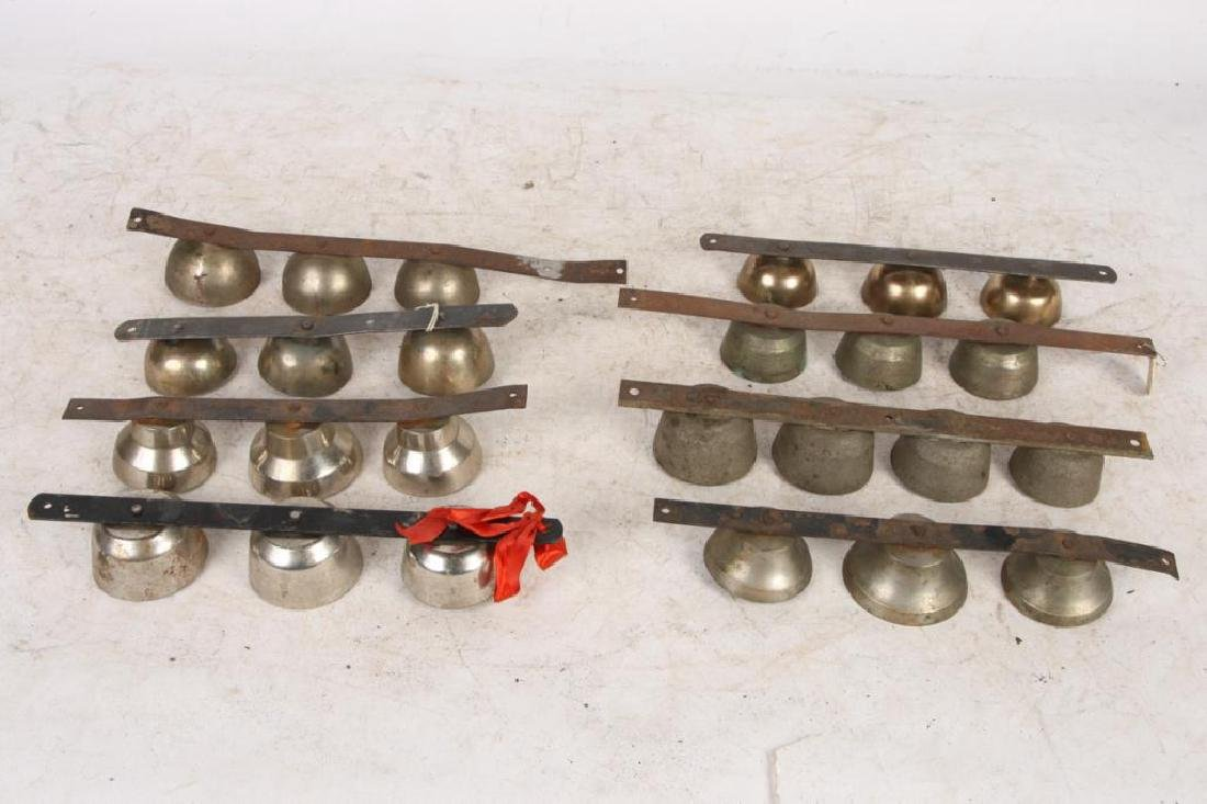 (8) ANTIQUE SHAFT / POLE / ICE CREAM BELLS