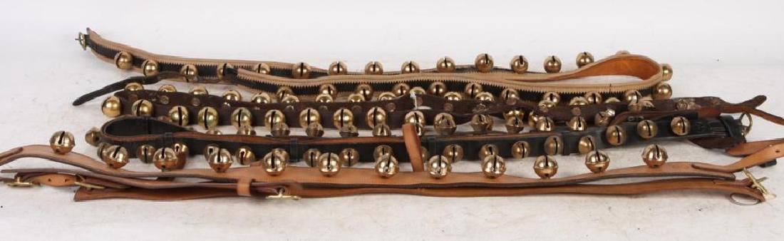 (4) BEAUTIFUL (20th c) SLEIGH BELLS