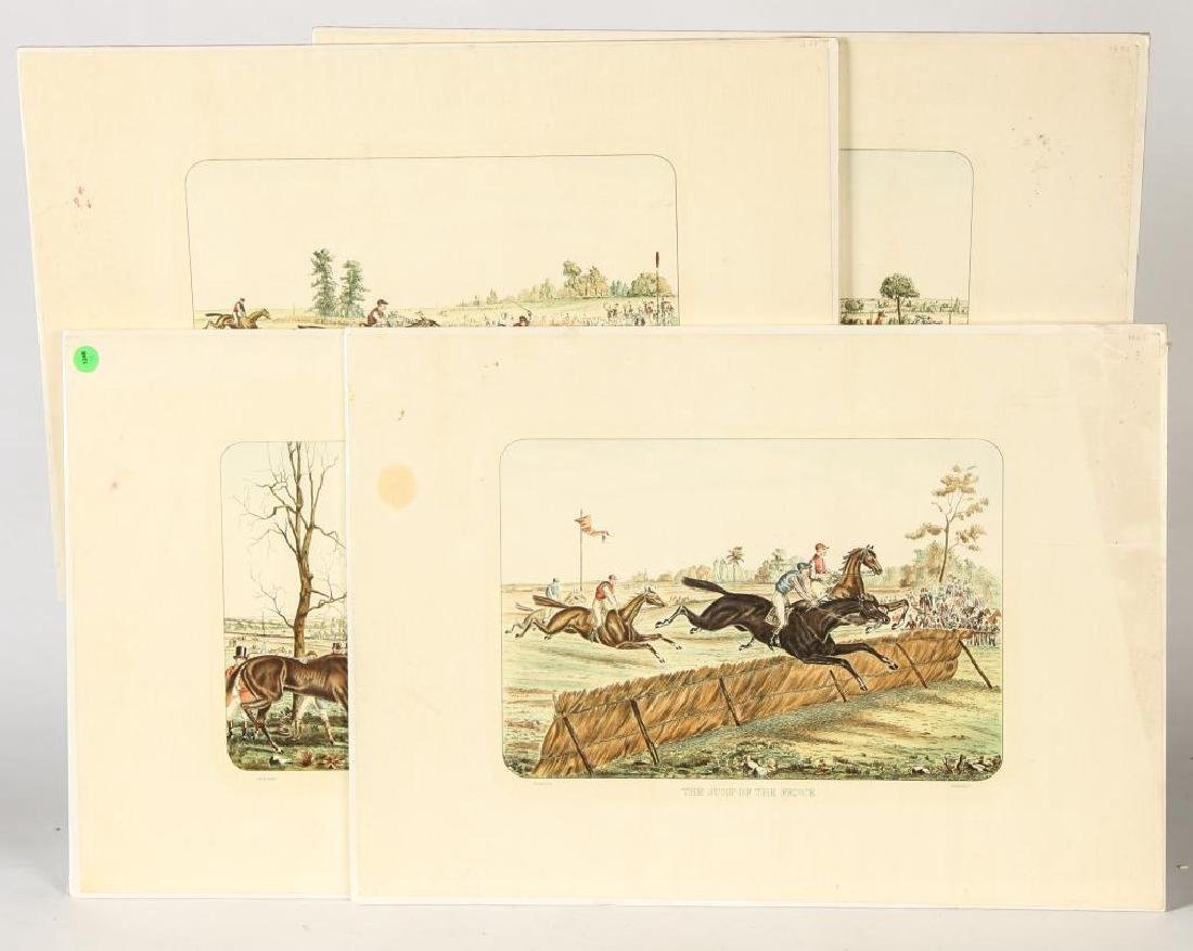 (4) EQUESTRIAN PRINTS BY GUILLON PUBLISHED BY P.V.