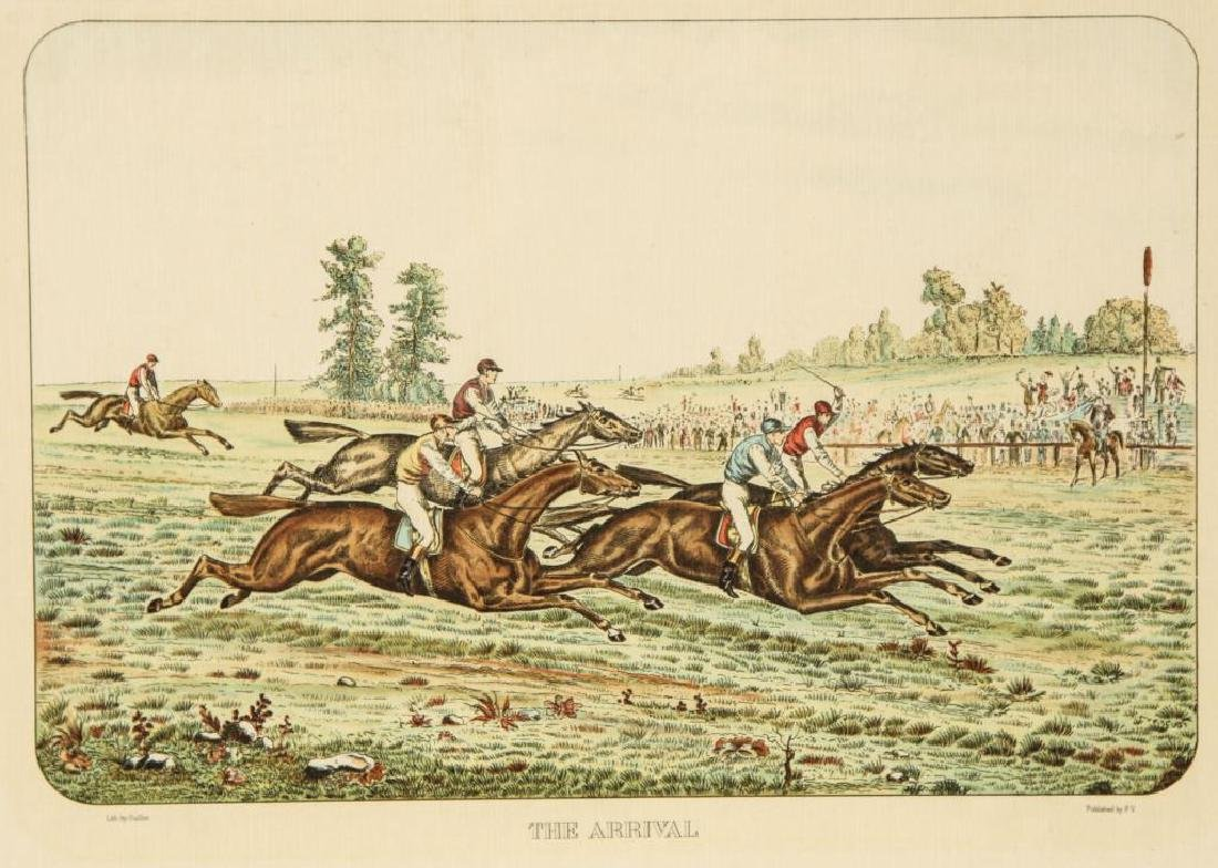 (4) EQUESTRIAN PRINTS BY GUILLON PUBLISHED BY P.V. - 2