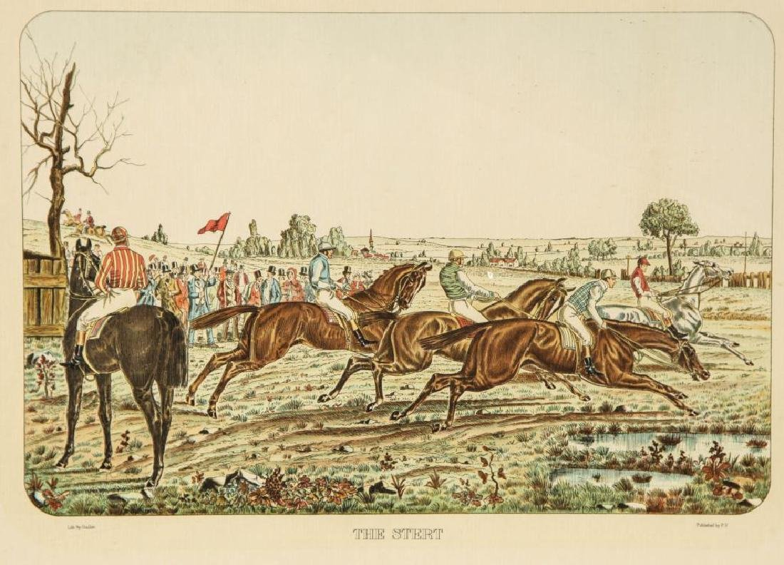 (4) EQUESTRIAN PRINTS BY GUILLON PUBLISHED BY P.V. - 3