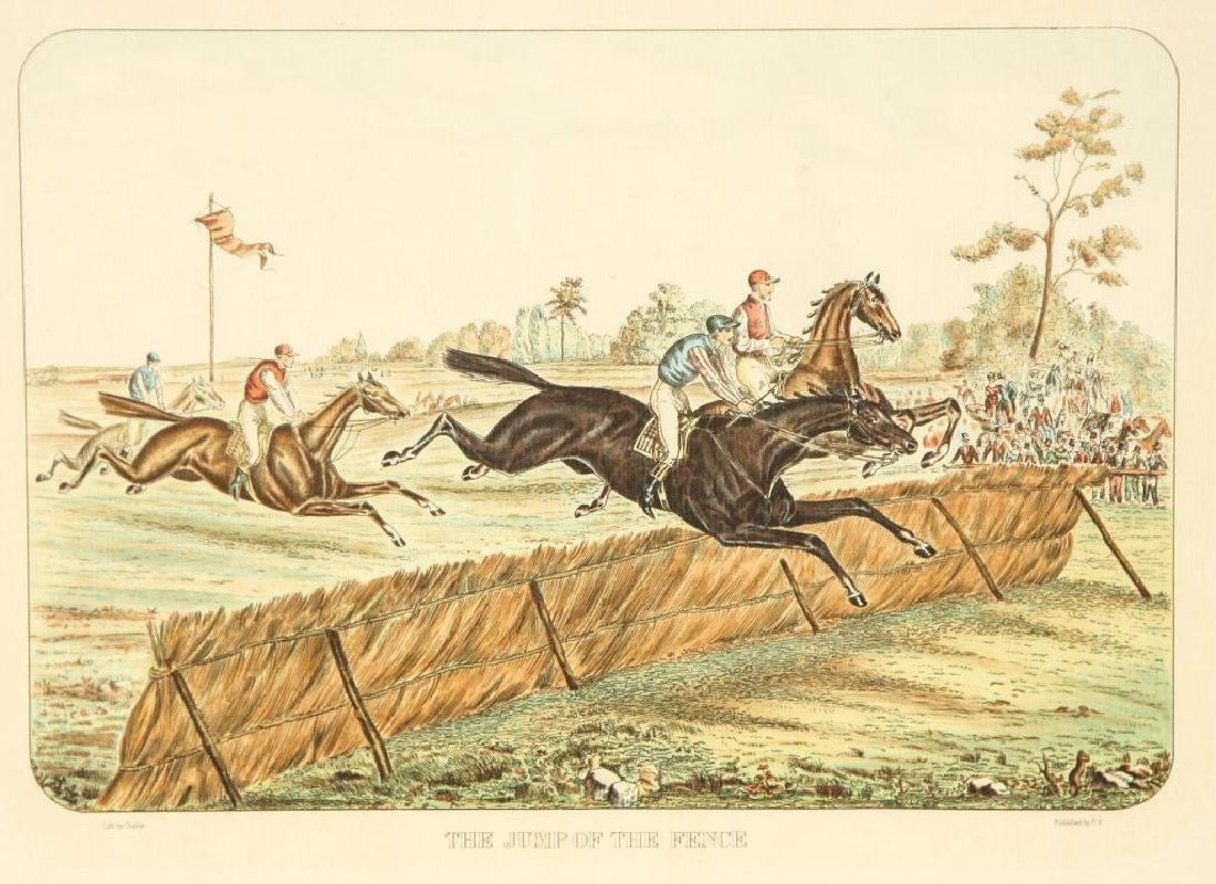 (4) EQUESTRIAN PRINTS BY GUILLON PUBLISHED BY P.V. - 4