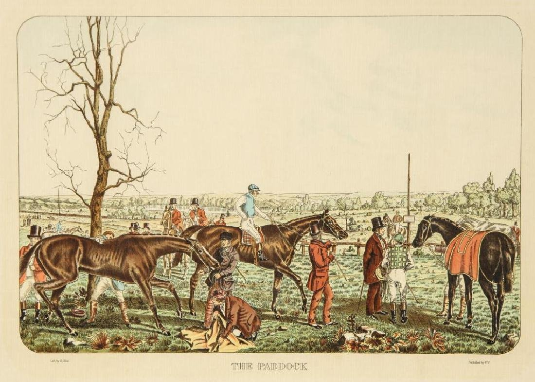 (4) EQUESTRIAN PRINTS BY GUILLON PUBLISHED BY P.V. - 5