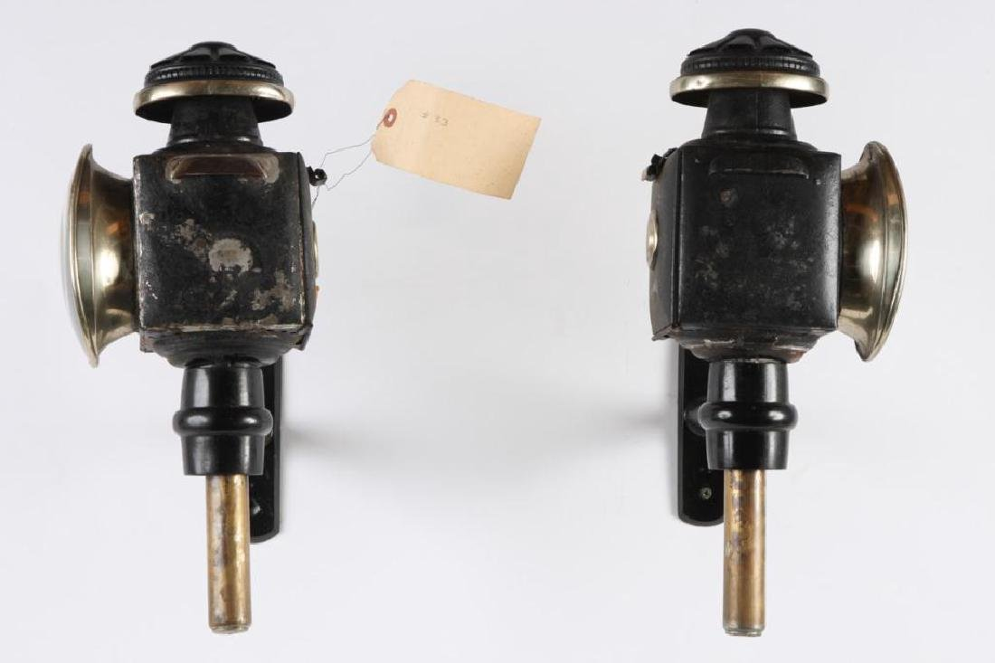 PAIR OF ENGLISH STYLE CARRIAGE LAMPS - 3