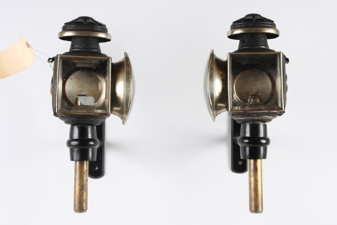 PAIR OF ENGLISH STYLE CARRIAGE LAMPS - 5